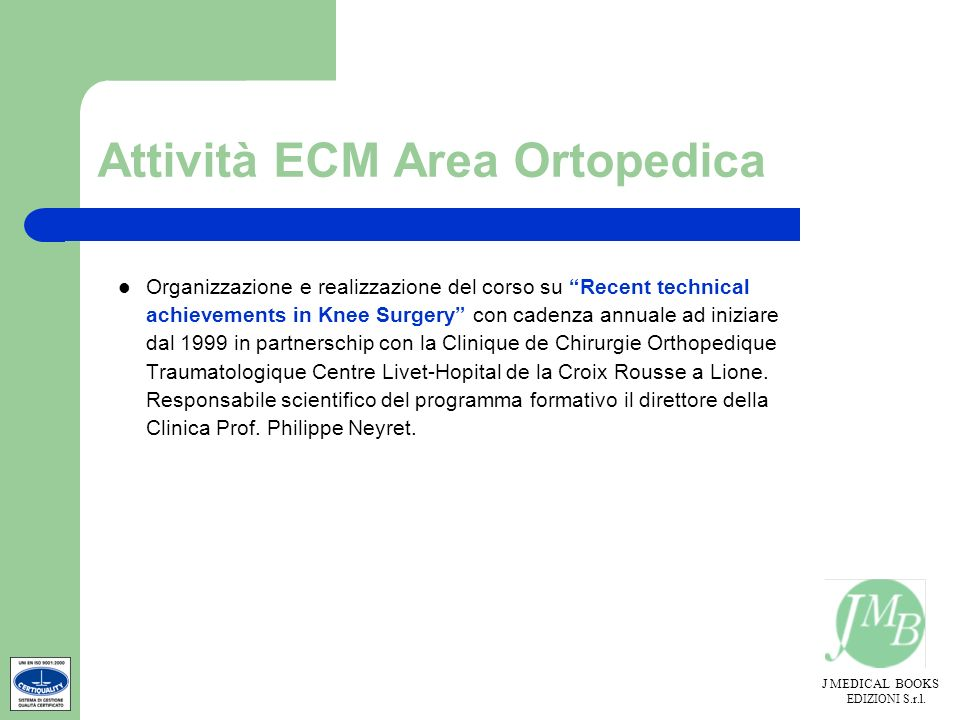 Attività ECM Area Ortopedica