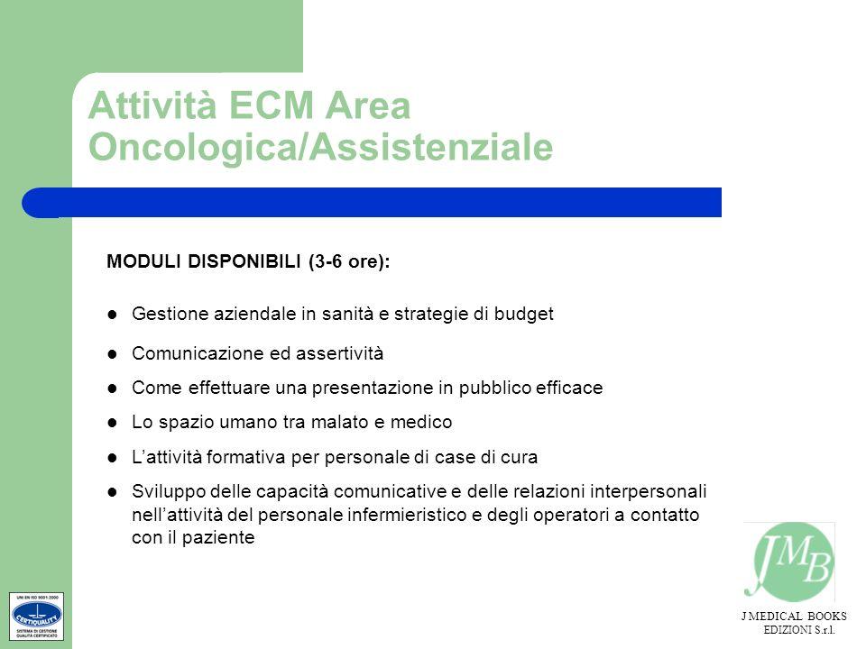 Attività ECM Area Oncologica/Assistenziale