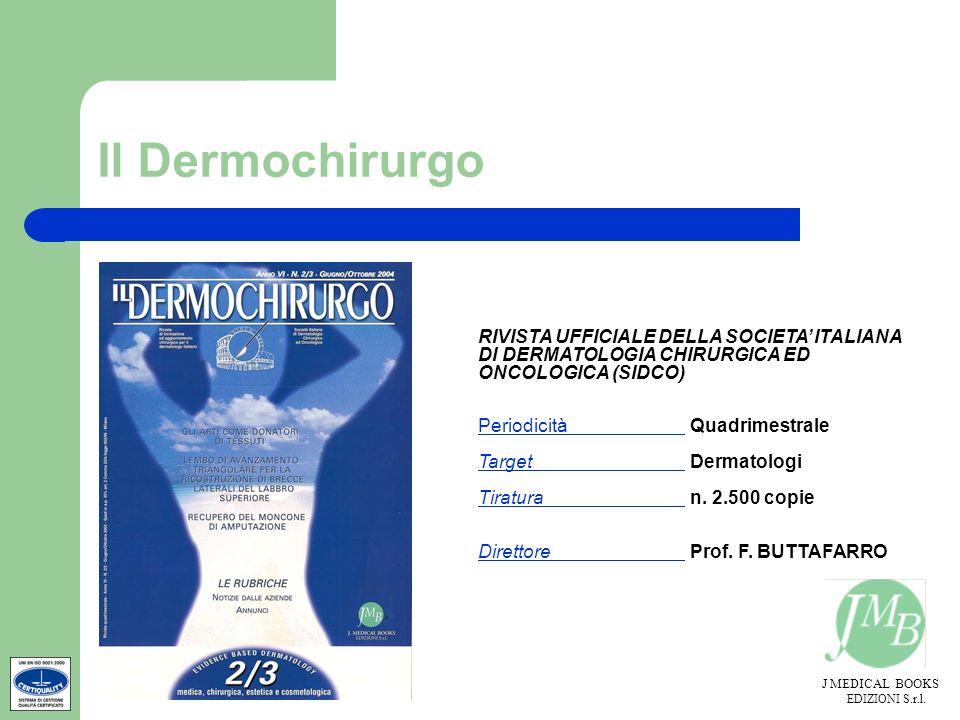 Il Dermochirurgo RIVISTA UFFICIALE DELLA SOCIETA' ITALIANA DI DERMATOLOGIA CHIRURGICA ED ONCOLOGICA (SIDCO)