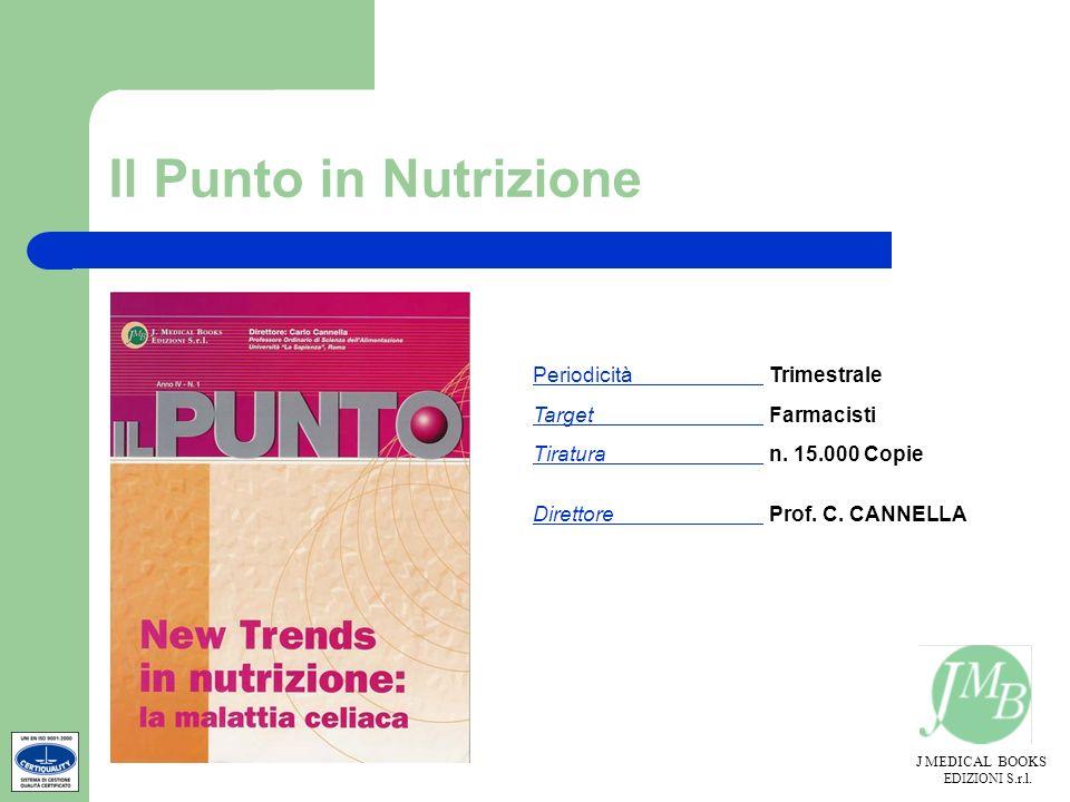Il Punto in Nutrizione Periodicità Trimestrale Target Farmacisti