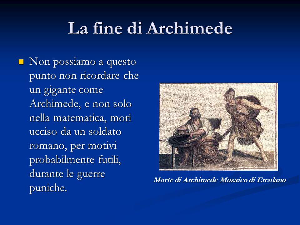 La fine di Archimede