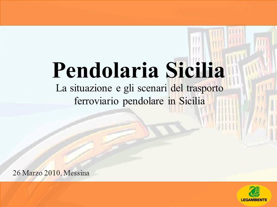 Pendolaria Sicilia La situazione e gli scenari del trasporto ferroviario pendolare in Sicilia.