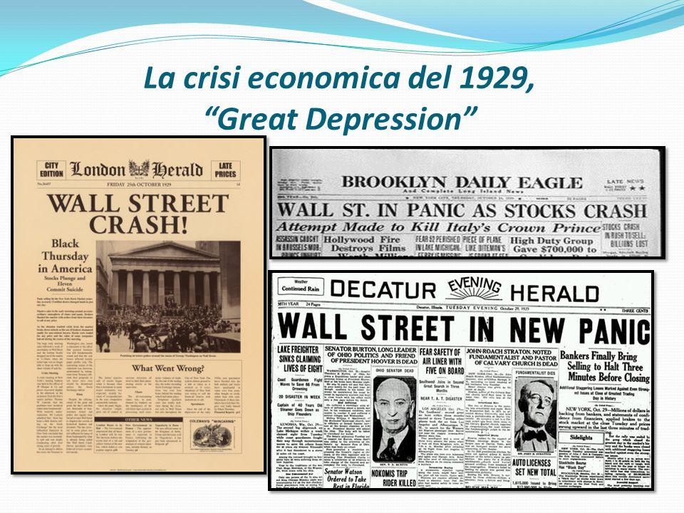 La crisi economica del 1929, Great Depression