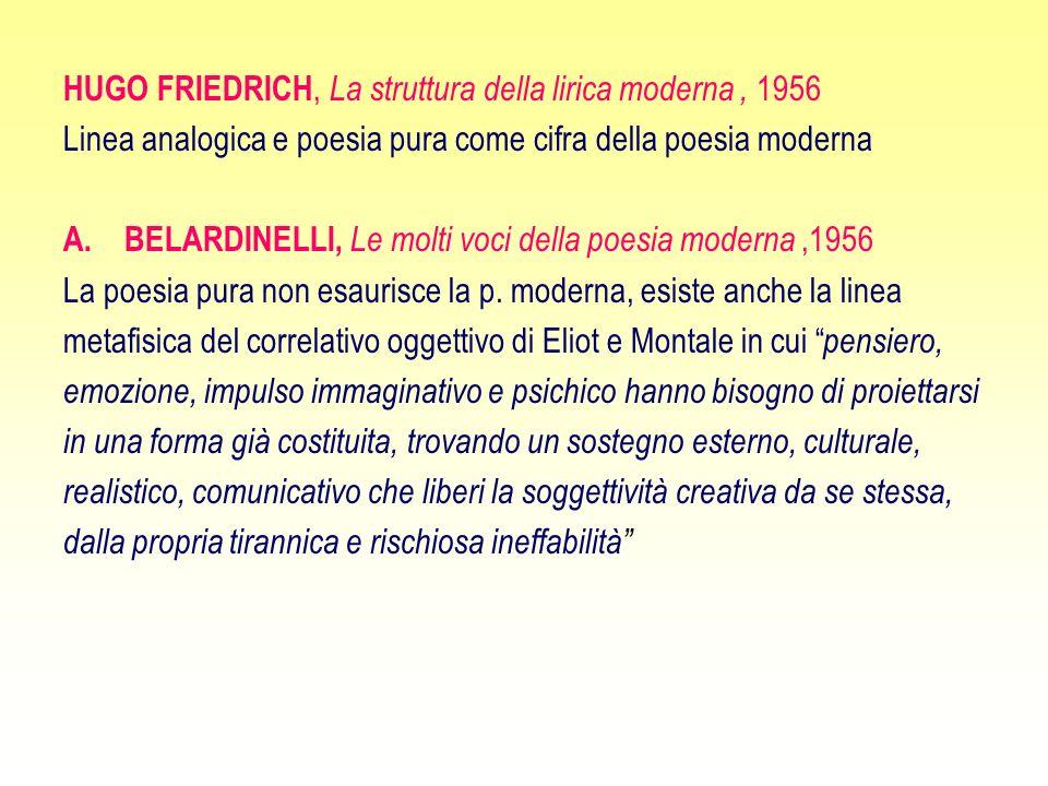 HUGO FRIEDRICH, La struttura della lirica moderna , 1956