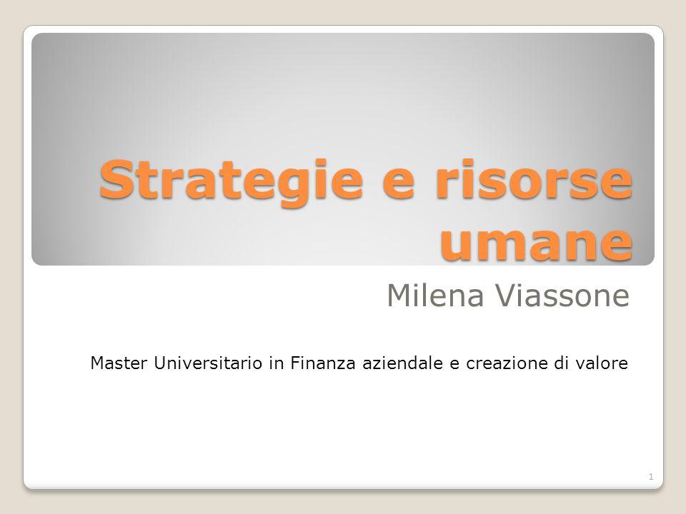 Strategie e risorse umane