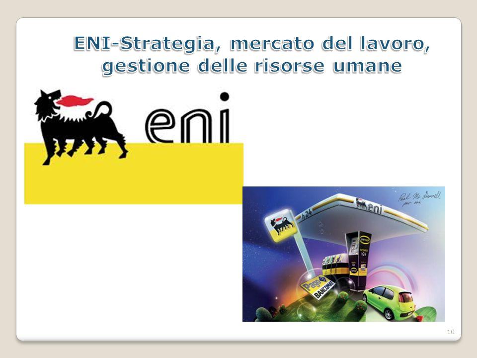 ENI-Strategia, mercato del lavoro, gestione delle risorse umane