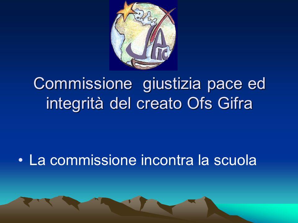Commissione giustizia pace ed integrità del creato Ofs Gifra