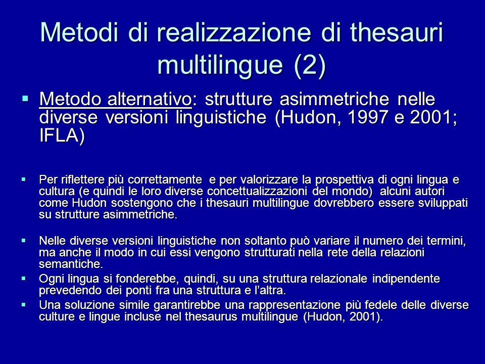 Metodi di realizzazione di thesauri multilingue (2)