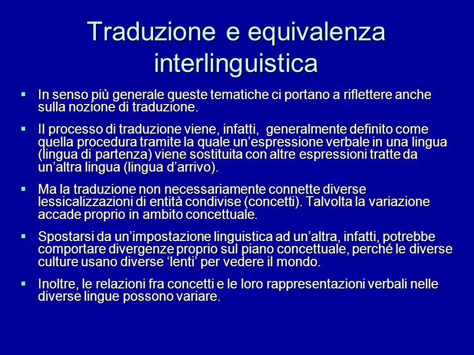 Traduzione e equivalenza interlinguistica