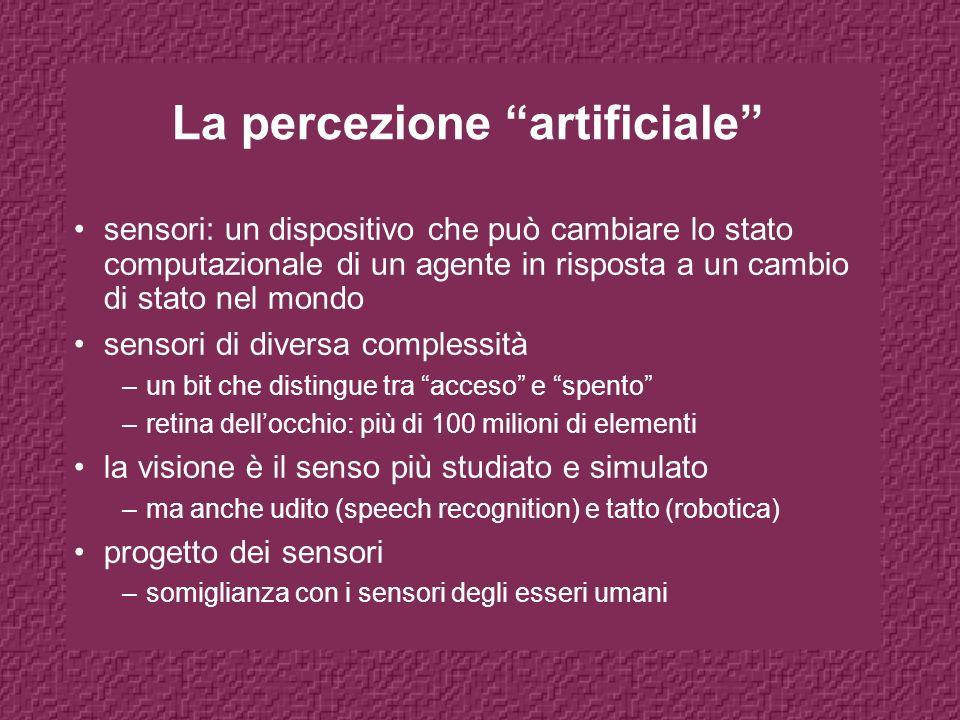 La percezione artificiale