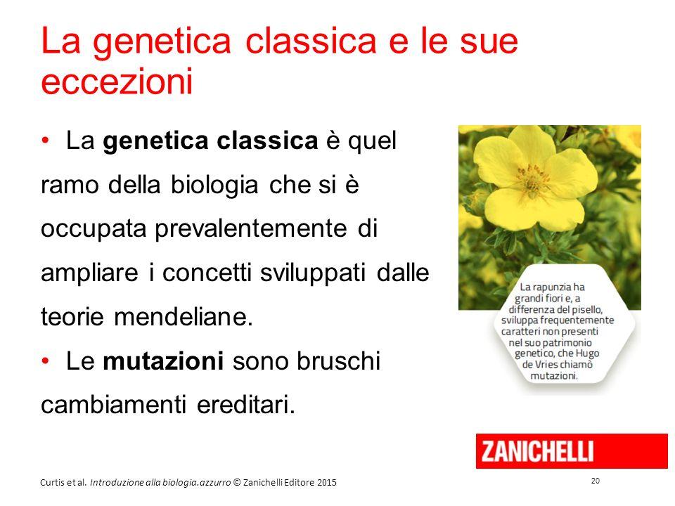 La genetica classica e le sue eccezioni