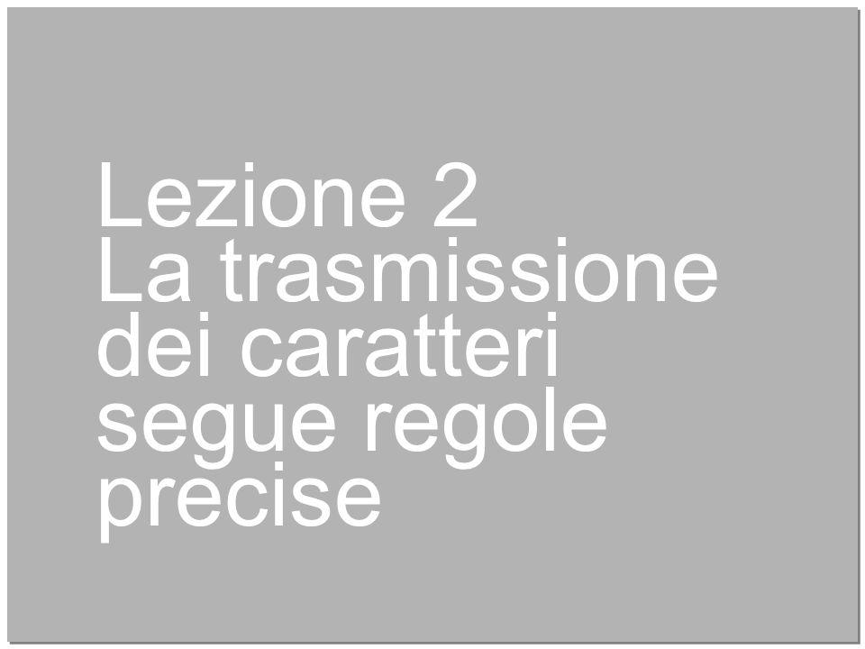 Lezione 2 La trasmissione dei caratteri segue regole precise