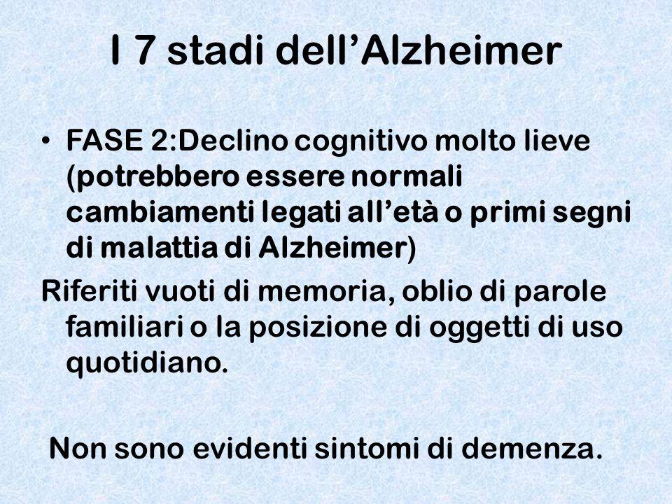 I 7 stadi dell'Alzheimer