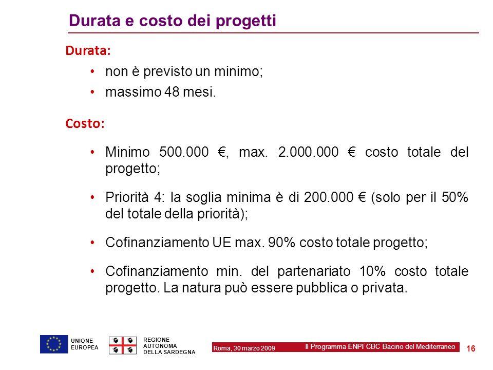 Regione autonoma della sardegna ppt scaricare for Costo medio dei progetti