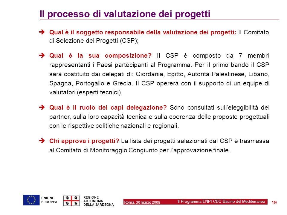 Il processo di valutazione dei progetti