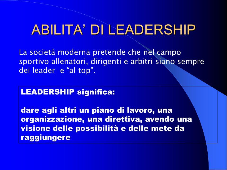 ABILITA' DI LEADERSHIP