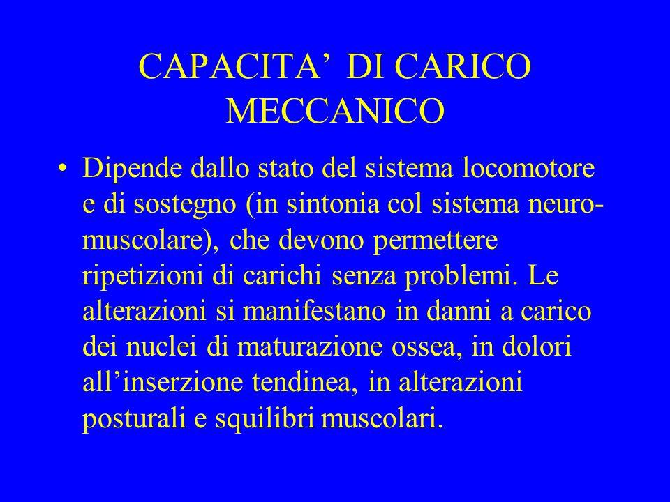 CAPACITA' DI CARICO MECCANICO