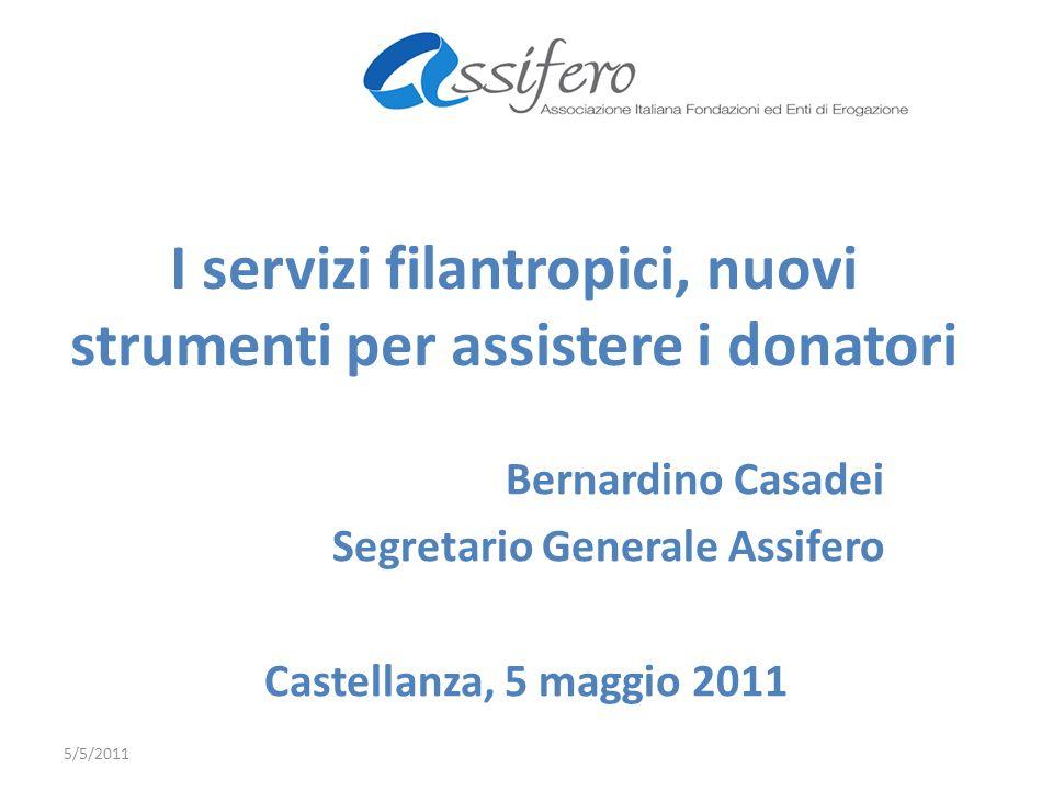 I servizi filantropici, nuovi strumenti per assistere i donatori