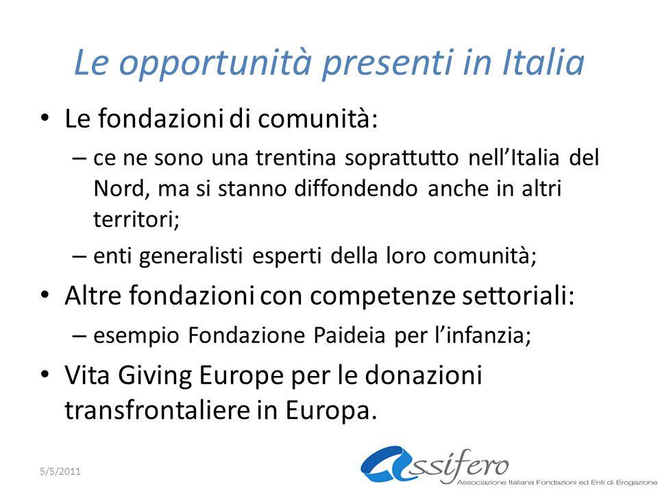 Le opportunità presenti in Italia