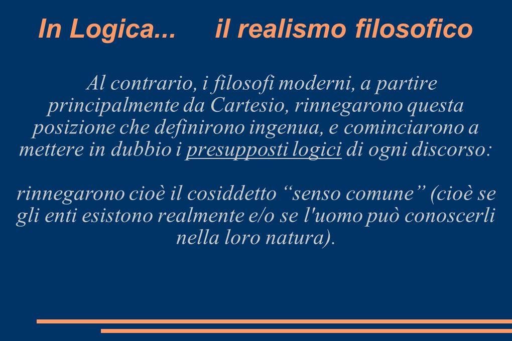 In Logica... il realismo filosofico