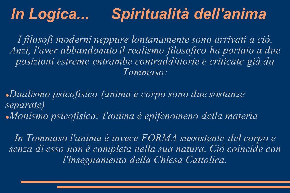 In Logica... Spiritualità dell anima