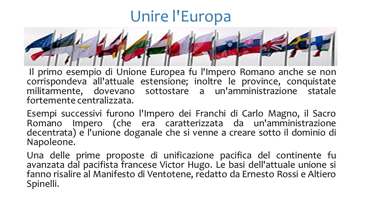 Unire l Europa