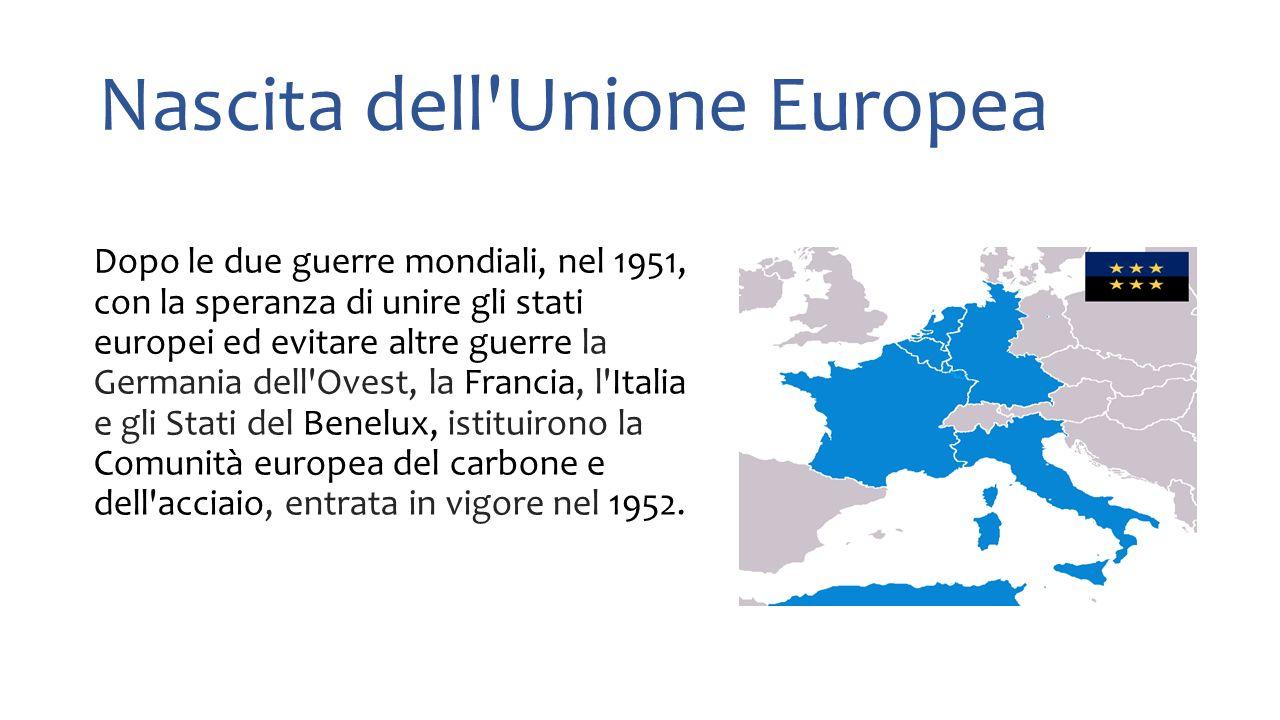 Nascita dell Unione Europea
