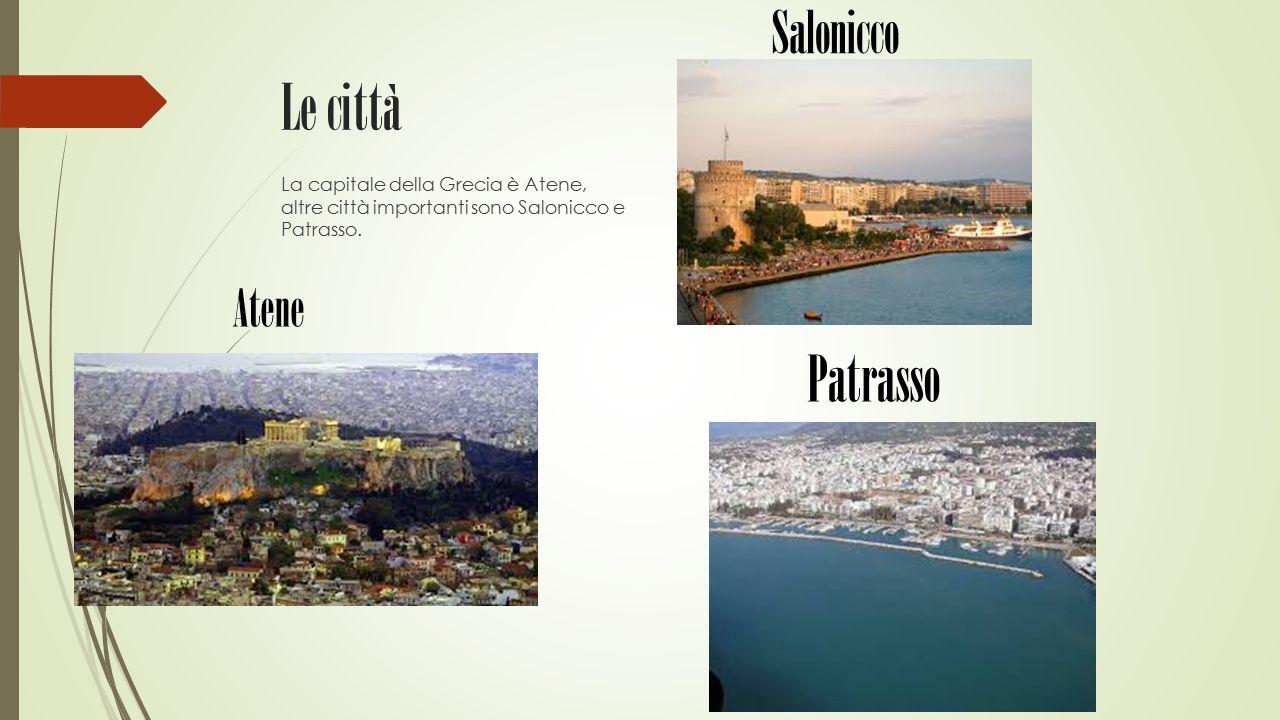 Le città Patrasso Salonicco Atene