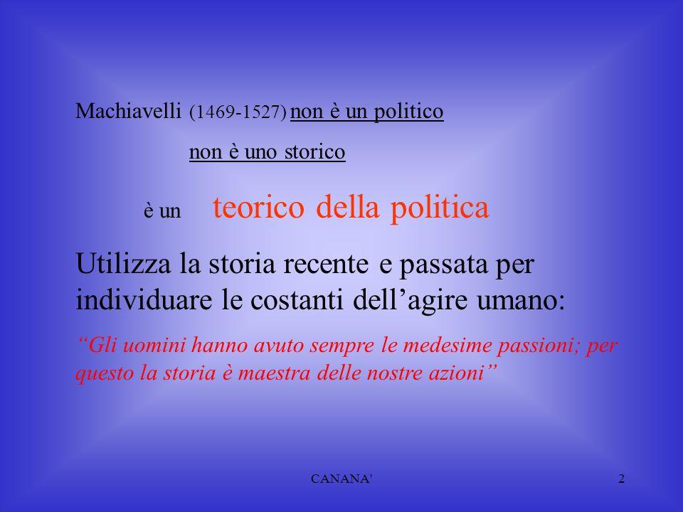Machiavelli (1469-1527) non è un politico