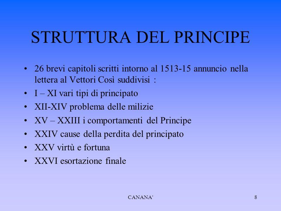 STRUTTURA DEL PRINCIPE