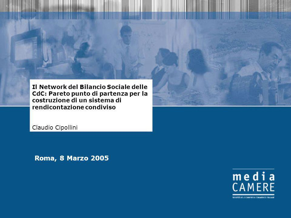 Il Network del Bilancio Sociale delle CdC: Pareto punto di partenza per la costruzione di un sistema di rendicontazione condiviso