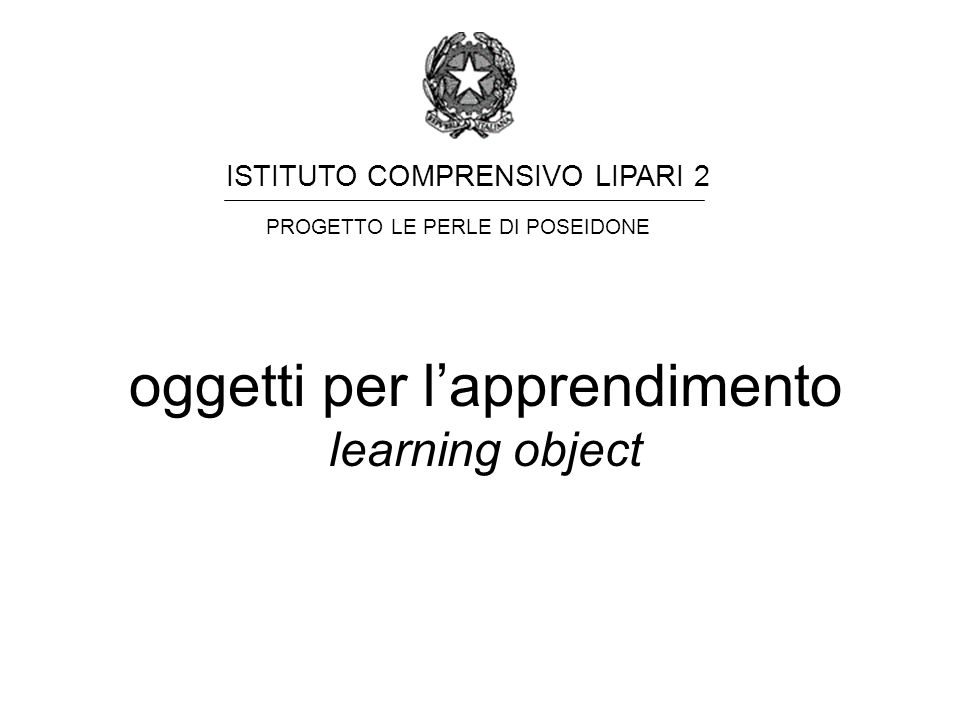oggetti per l'apprendimento learning object