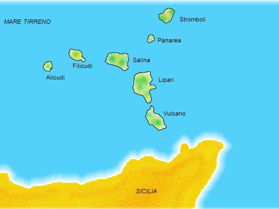 Stromboli MARE TIRRENO Panarea Salina Filicudi Alicudi Lipari Vulcano SICILIA