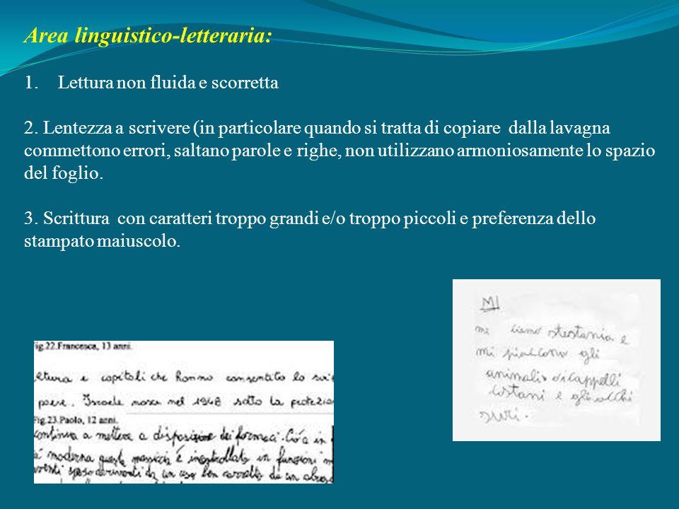 Area linguistico-letteraria: