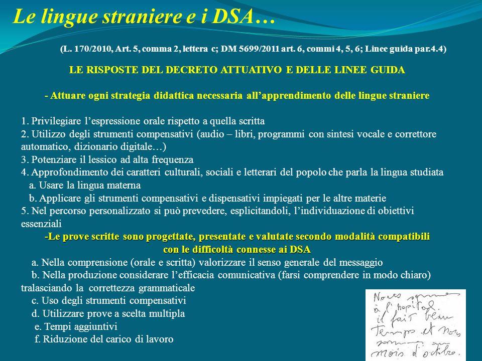 Le lingue straniere e i DSA…
