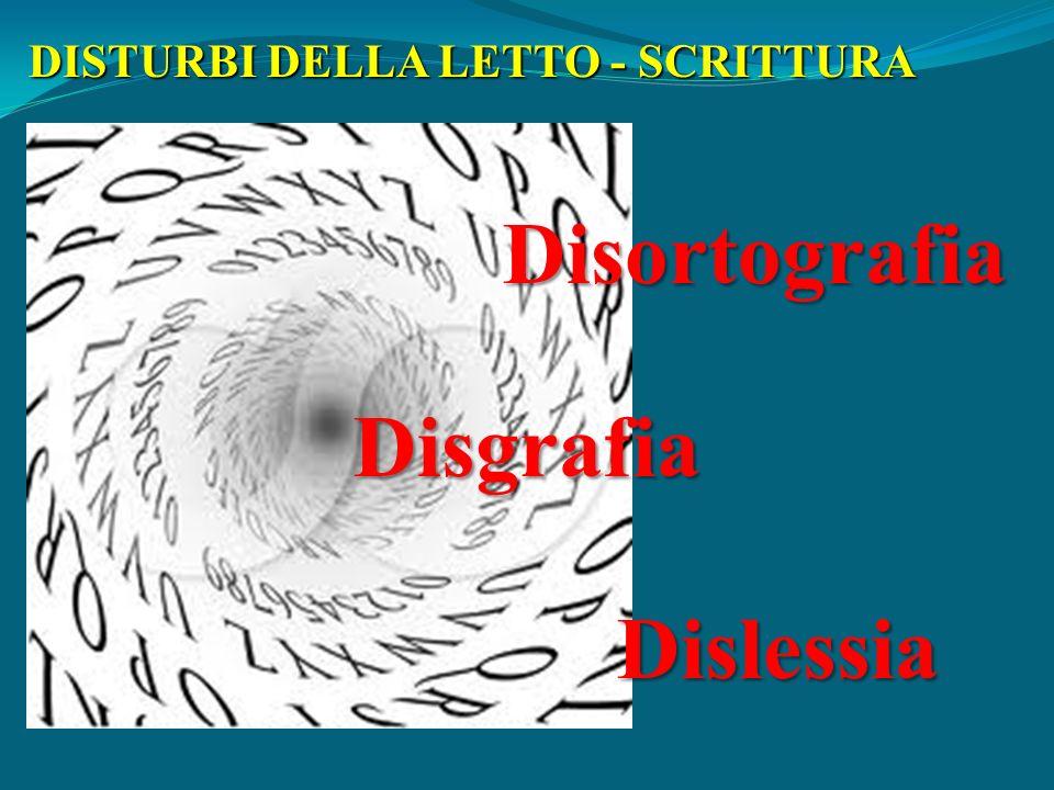 DISTURBI DELLA LETTO - SCRITTURA