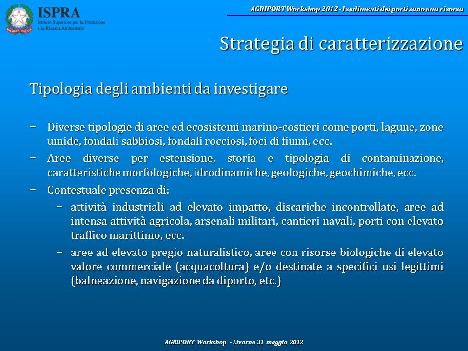 Strategia di caratterizzazione