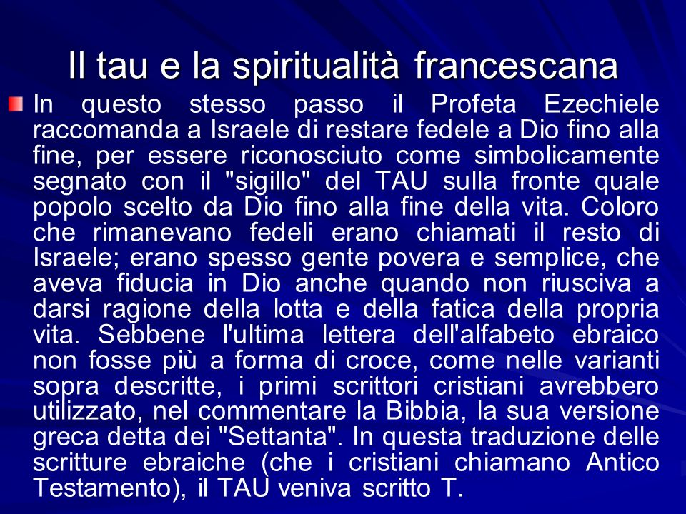 Il tau e la spiritualità francescana