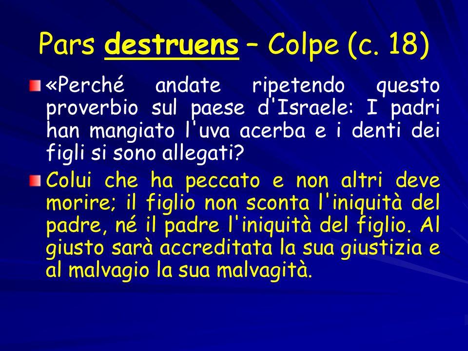 Pars destruens – Colpe (c. 18)