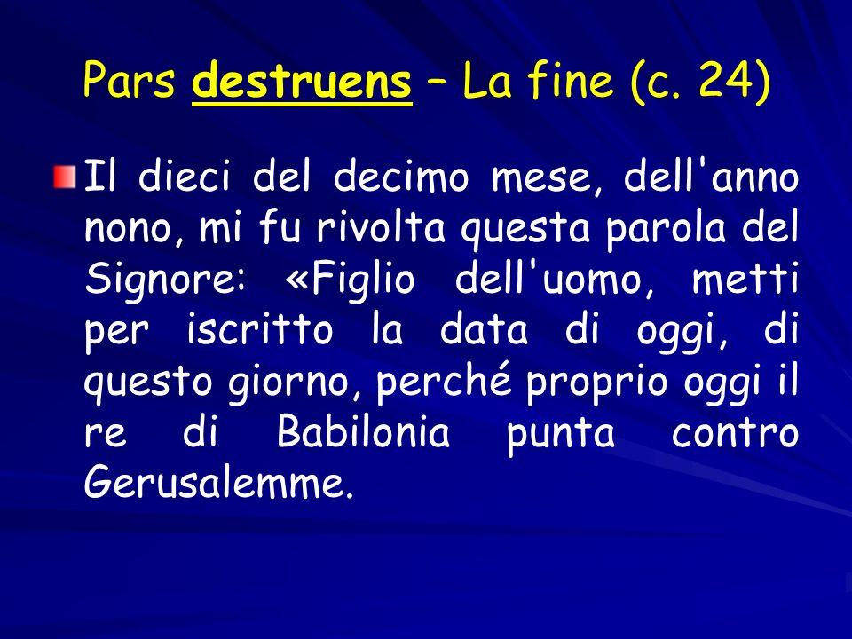 Pars destruens – La fine (c. 24)