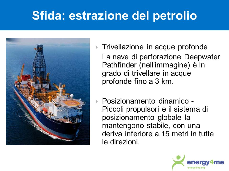 Sfida: estrazione del petrolio