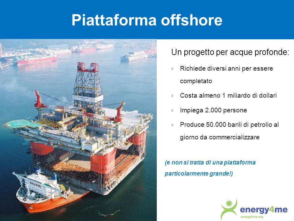 Piattaforma offshore Un progetto per acque profonde: