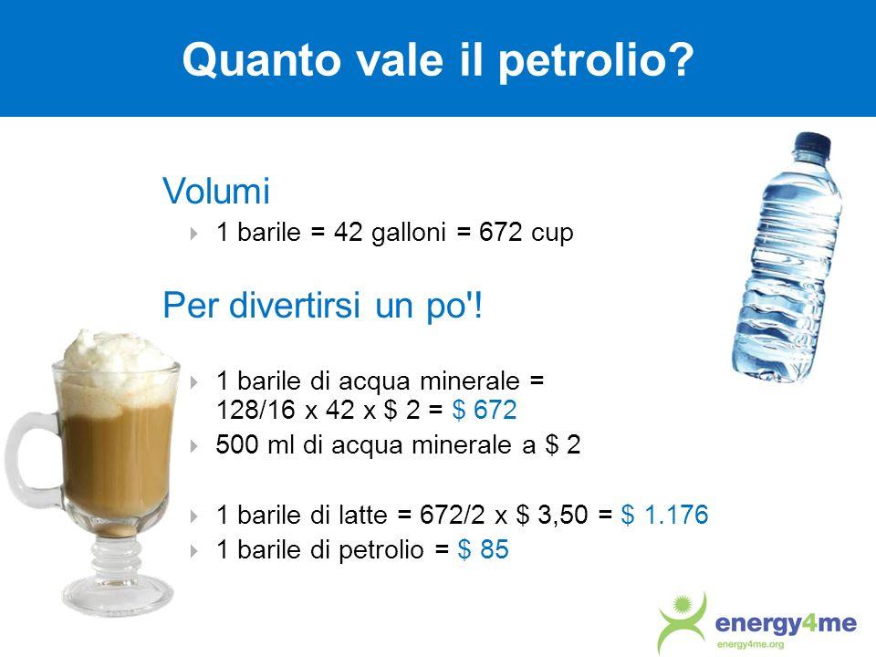 Quanto vale il petrolio