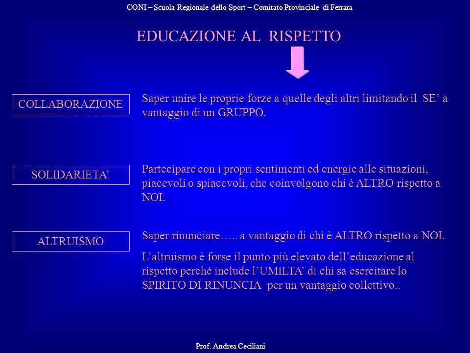 EDUCAZIONE AL RISPETTO