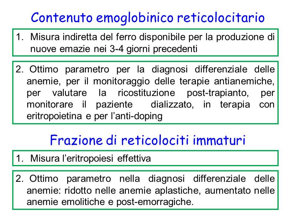 Contenuto emoglobinico reticolocitario