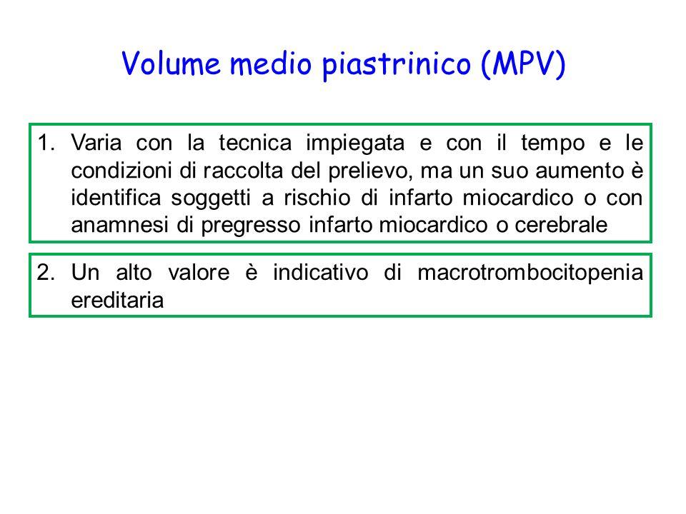 Volume medio piastrinico (MPV)