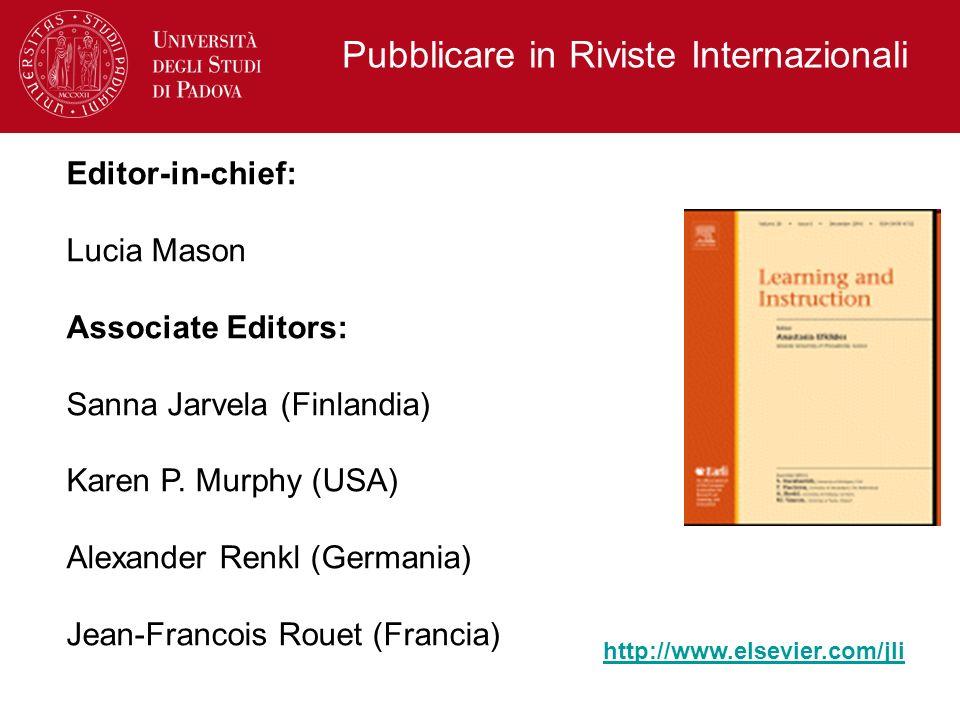 Pubblicare in Riviste Internazionali