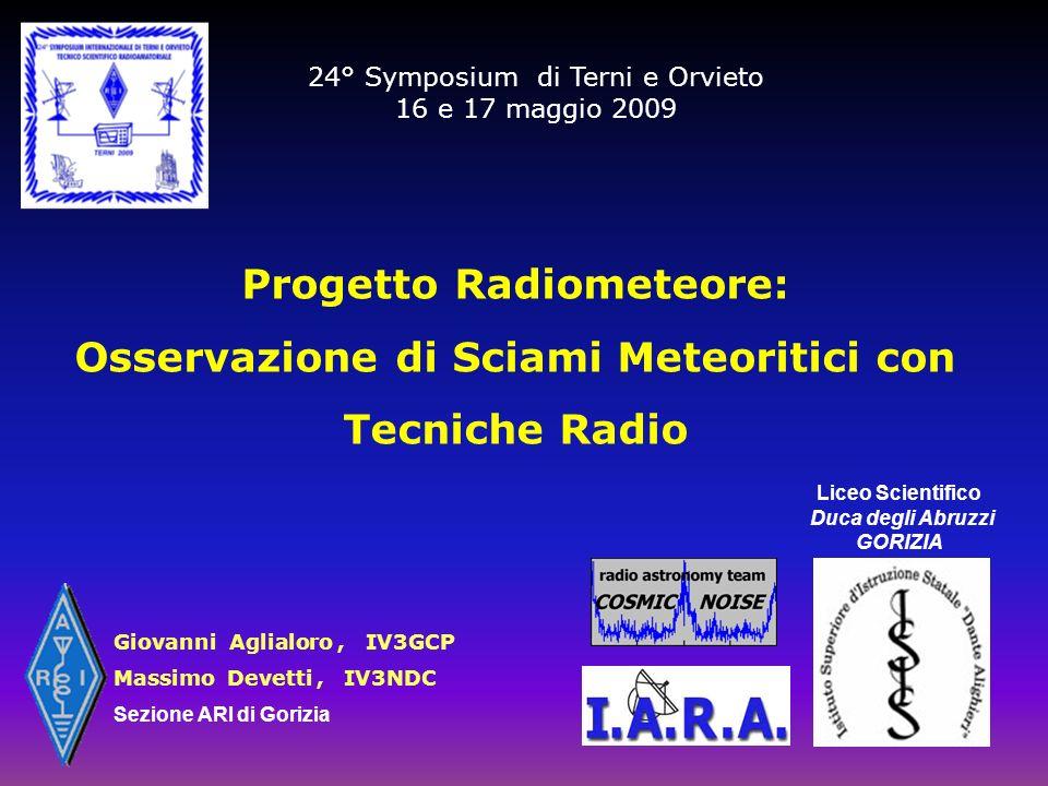 Progetto Radiometeore: Liceo Scientifico Duca degli Abruzzi GORIZIA