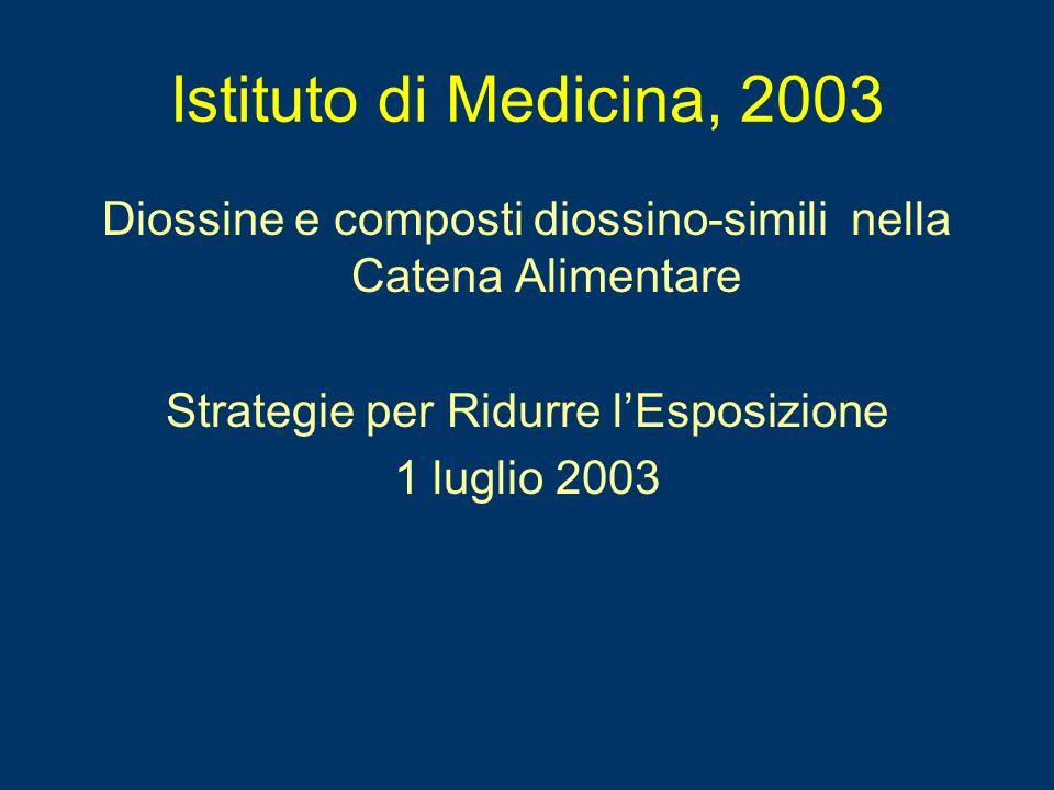Istituto di Medicina, 2003Diossine e composti diossino-simili nella Catena Alimentare. Strategie per Ridurre l'Esposizione.