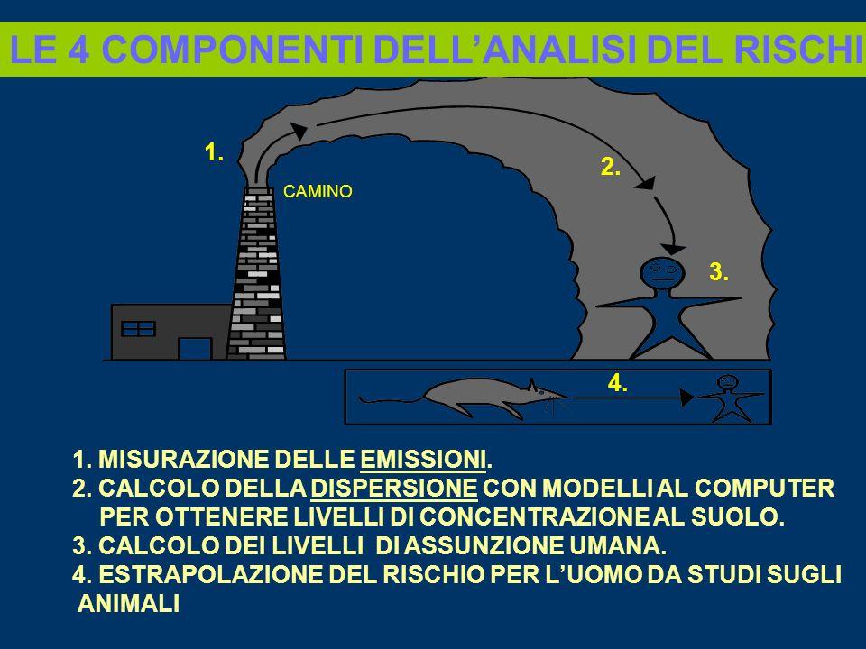 LE 4 COMPONENTI DELL'ANALISI DEL RISCHIO.